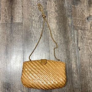 Vintage Rodo Weave Metallic Tan/Gold Clutch